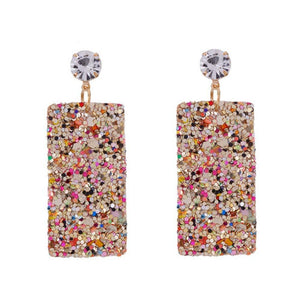 Glitter Drop Earrings - Ferosh