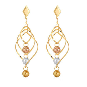 Golden Claribel Drop Earrings - Ferosh