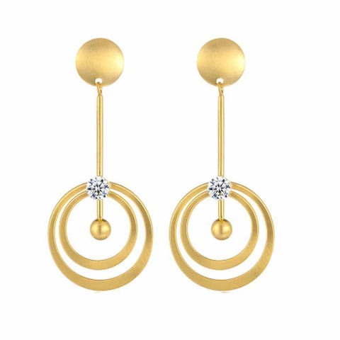 Idai Golden Drop Earrings - Ferosh