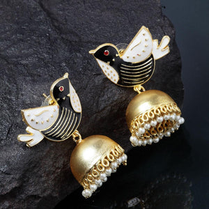 Krutika Bird Jhumka Earrings - Ferosh