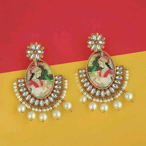 Kundan Pearl Earrings - Ferosh