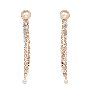 Marge Rhinestone Drop Earrings - Ferosh