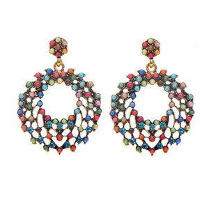 Multi Hue Earrings - Ferosh