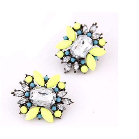 Mysha Crystal Neon Earrings - Ferosh