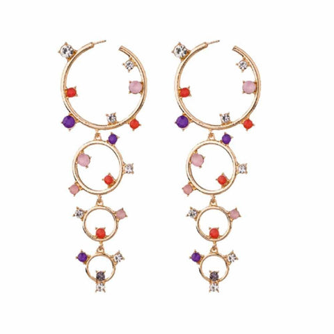 Philia Circular Layered Earrings - Ferosh