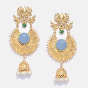 Phiroza Golden Jhumki Earrings - Ferosh