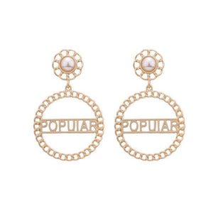 Popular Gold Dangler Earrings - Ferosh