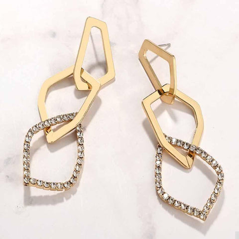 Rayie Intertwined Golden Earrings - Ferosh
