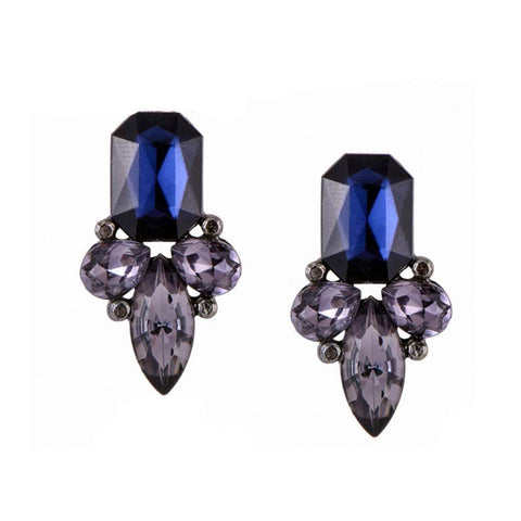 Royal Blue Stud Earrings - Ferosh