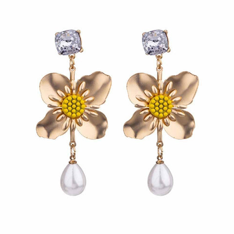 Sirvart Floral Drop Earrings - Ferosh