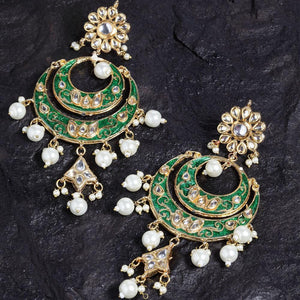 Taniksh Pearl Meenakari Ethnic Earrings - Ferosh