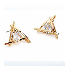 Ferosh Earrings Trio Crystal Studs