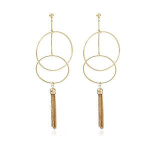 Ferosh Earrings Victoria Tassel Hoop Earrings