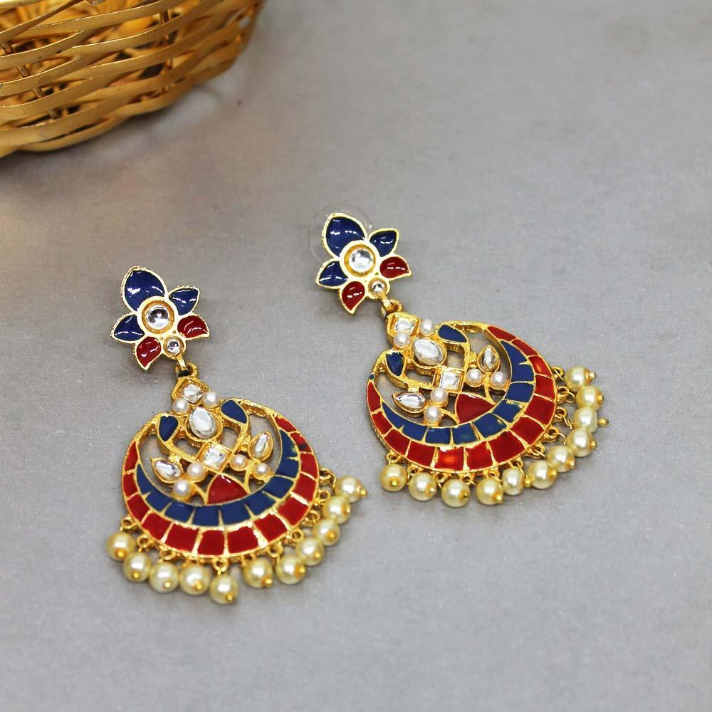 Ferosh Earrings Vihana Red Pearl Ethnic Earrings