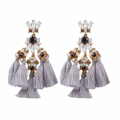 Zahara Tassel Drop Earrings - Ferosh