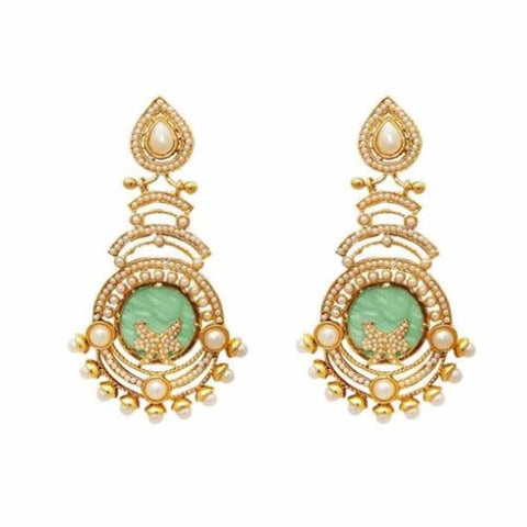 Zarmina Gold Drop Earrings - Ferosh