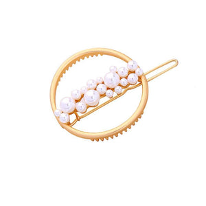 Ferosh Hair Accessories Divina Circular Pearl-Studded Hair Pin