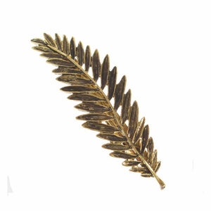 Gold Akane Leaf Hair Pin - Ferosh