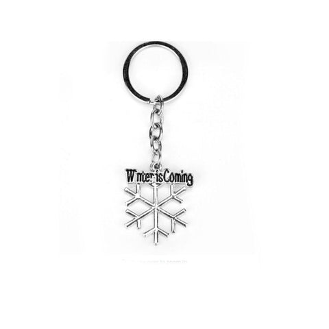 Silver Winter Is Coming Keychain - Ferosh