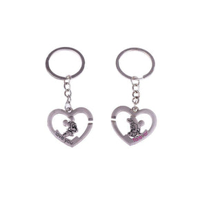 Ferosh Keychains Mickey Minnie Love