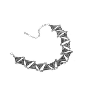 Ferosh Necklace Metallic Triangular Choker