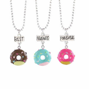 Cutesy Doughnut Friendship Pendants - Ferosh