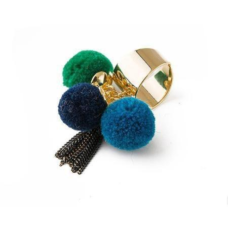 Ferosh Ring Multi Pom Pom Ring