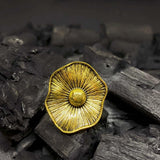 Narya Blooming Golden Statement Ring - Ferosh