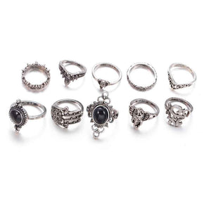 Ferosh Ring Set Black Vintage Ring Set