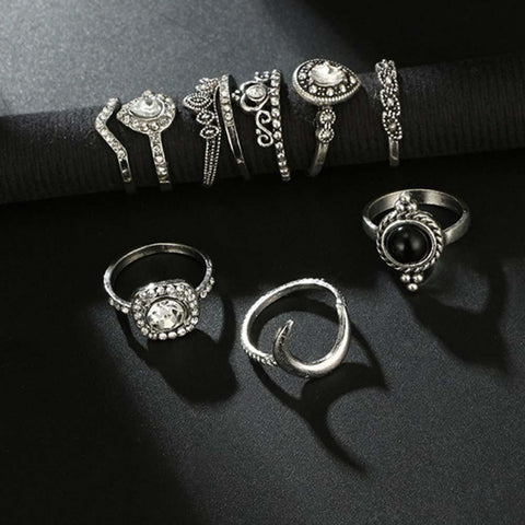 Ferosh Ring Set Gem Ring Set - Set of 10 Pcs