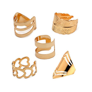 Geometric stackable ring set - Ferosh
