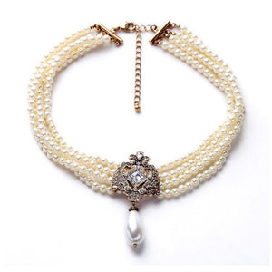 Jorality Pearl Statement Necklace - Ferosh