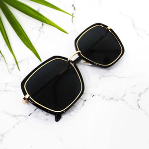 Fresh Wave Black-Gold Sunglasses - Ferosh