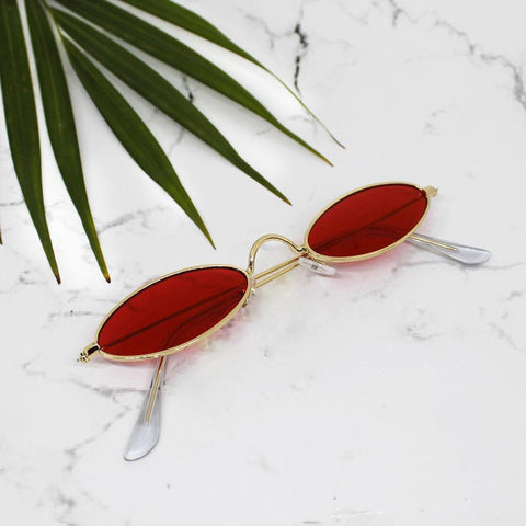 Glorious Oval Red Sunglasses - Ferosh