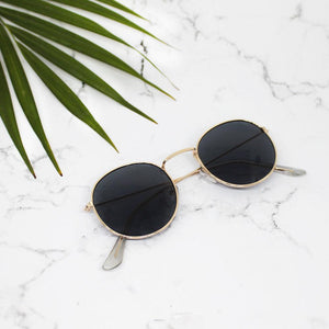ferosh designer shape black and gold sunglasses for women and girls