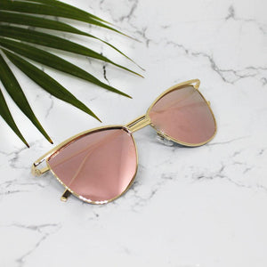 show Stopper Rose Gold Sunglasses - Ferosh
