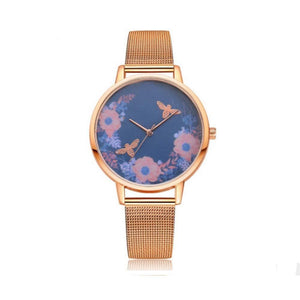 Rosario Floral Copper Gold Watch - Ferosh