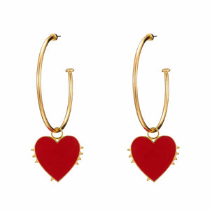 Cora Heart Stealer Golden Hoop Earrings - Ferosh