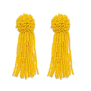 Ferosh Beaded Tassel Drop Earrings For Women - Earrings Online