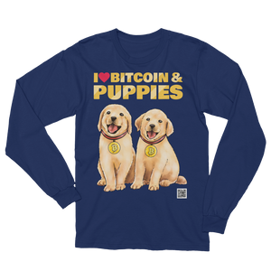 Long-Sleeve Shirt - Bitcoin & Puppies