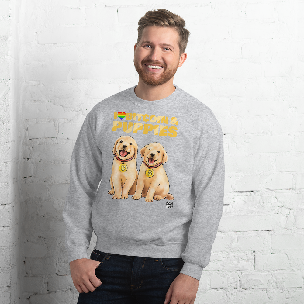 I Love Bitcoin & Puppies Sweater