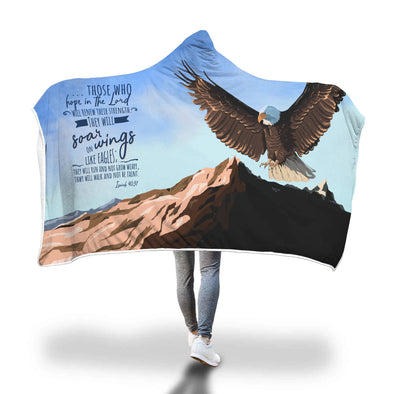 Those who hope in the Lord Isaiah 40:31 Hooded Blanket - Lavish & Lovely