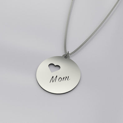 Mom Circular Pendant and Chain set