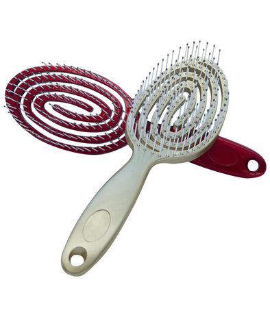 Spiral Anti-Breakage Hair Brush Red/Gold - Lavish & Lovely