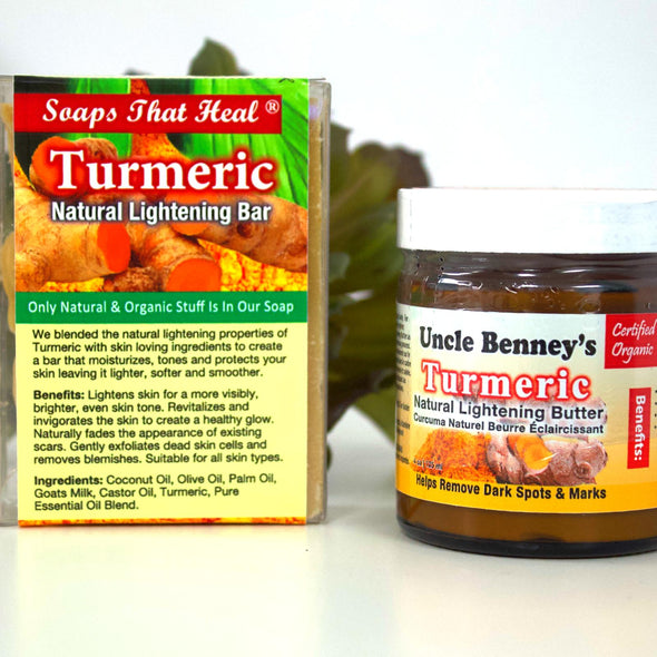 Turmeric Natural Soap/Lightening Butter Combo - Lavish & Lovely