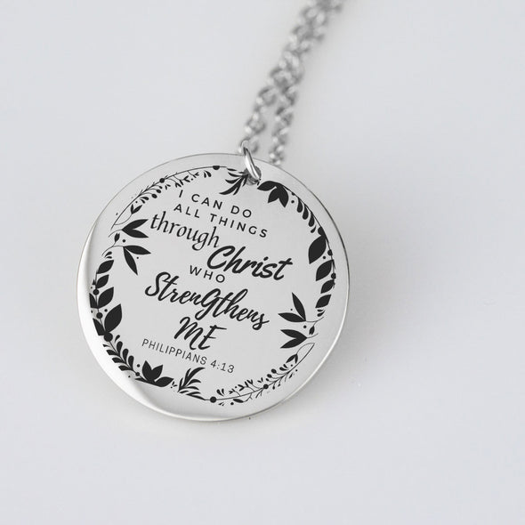 I Can Do All Things Through Christ who Strengthens Me Pendant and chain set