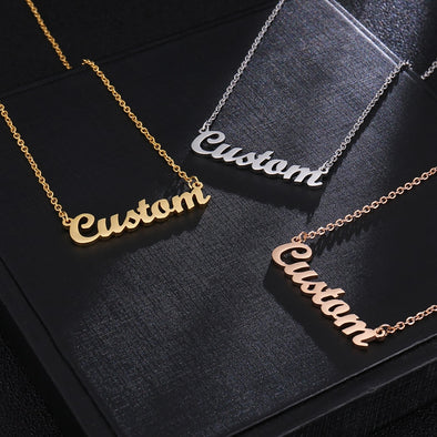 Custom Name Necklace Stainless steel - Lavish & Lovely