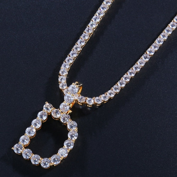 Luxury Crystal Letter Chain
