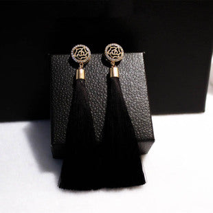 Tassel & Dazel Rhinestone Drop Earrings - Lavish & Lovely