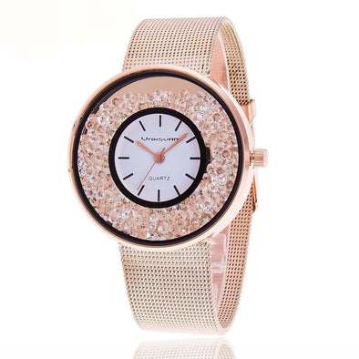 Floating crystal Quartz Rhinestone Watch - Lavish & Lovely